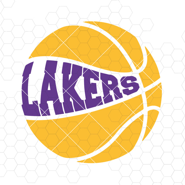 Lakers Basketball in svg,dxf, and png. INSTANT DOWNLOAD Digital Cut Files Svg, Dxf, Eps, Png, Cricut Vector, Digital Cut Files Download