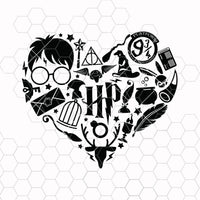 Harry Potter Heart Svg, Heart SVG, Hogwarts SVG, SVG Files, Png, Svg, Jpg, Eps, Dxf, Digital Download, Digital Design