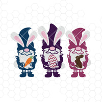 Easter Gnomes SVG | Easter Bunny Digital Cut Files Svg, Dxf, Eps, Png, Cricut Vector, Digital Cut Files Download