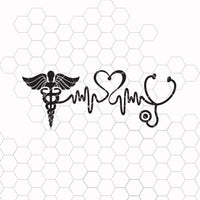 Nurse Svg, RN Svg, Nurse Life Svg, Stethoscope Svg, Heartbeat Svg, Nursing Svg, Lifeline Svg, Nurse Svg Design, Nurse Cut Files, Cricut File