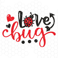 Love bug svg, Ladybug svg, Valentine svg, Valentines day svg, little, heart svg, dxf, pdf, jpeg, cutting file for Silhouette Cameo, Cricut