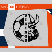 Vikings SVG, Soccer SVG, Vikings Soccer T-shirt Design, Soccer Mom Shirt, Cricut Cut Files, Silhouette Cut Files,Cutting Files