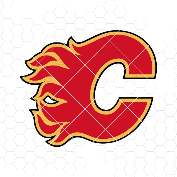Calgary Flames Digital Cut Files Svg, Dxf, Eps, Png, Cricut Vector, Digital Cut Files Download