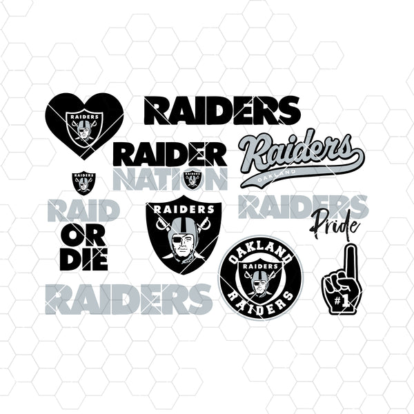 Oakland Raiders SVG, Oakland Raiders files, raiders logo, football, silhouette cameo, cricut, cut files, digital clipart, layers, png dxf ai