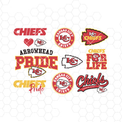Kansas City Chiefs SVG, Kansas City Chiefs files, chiefs logo, football, silhouette cameo, cricut, cut, digital clipart, layers, png dxf ai