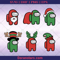 Bundle svg Among us and Christmas | svg png dxf al eps digital files | instant download