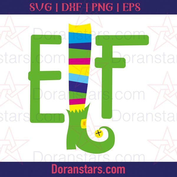 Elf - Christmas Svg - Free SVG, Instant Download - Doranstars