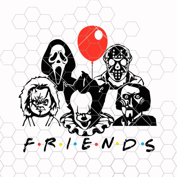 Friends horror movie creepy halloween horror friends team SVG