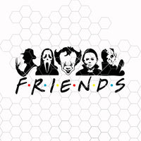 Halloween Friends SVG, Scary SVG, Serial Killer, Jason Vorhees, Pennywise, Michael Myers, Chucky, Ghost Face, Design
