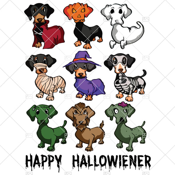 Happy Hallowiener , Dog Halloween, Horror Dog Digital Cut Files Svg, Dxf, Eps, Png, Cricut Vector, Digital Cut Files Download