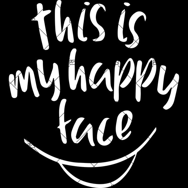 Happy face mask svg artwork quarantine vector typography, quarantined SVG PNG Eps Dxf Cutting File Cricut Digital File
