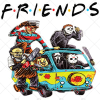 Jason and Friends Sublimation, Instant Download, Horror Movie PNG, Halloween Sublimation, Jason, Penny Wise, Scary Movie Clipart, PNG File