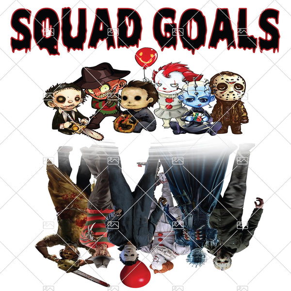Jason and Friends Squad Goals Sublimation, Instant Download, Halloween Shirt, Horror Movie PNG, Scary Movie PNG Clipart, Halloween PNG