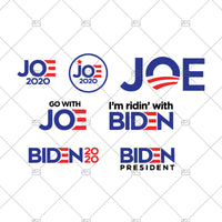 Joe Biden SVG PNG bundle/ Go with Joe/ Biden Logo/ I'm ridin' with Biden/ Biden President Obama graphic Clipart cricut silhouette