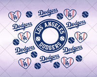 Los Angeles Dodgers SVG,Full wrap SVG for Starbucks Tumbler -  Svg for DIY, DIY Starbuck Cup Instant Download