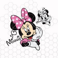 Minnie Mouse Svg, Dxf, Eps, Ai, Cdr Vector Files for Silhouette, Cricut, Cutting Plotter, Png file