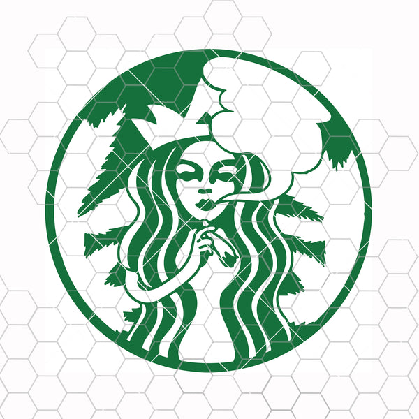 Starbucks stoner coffee - Stoner marijuana Digital Cut Files Svg, Dxf, Eps, Png, Cricut Vector, Digital Cut Files Download