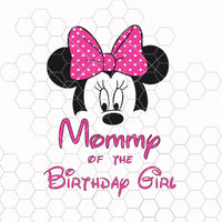 Mom of the Birthday Girl SVG PNG Cutting