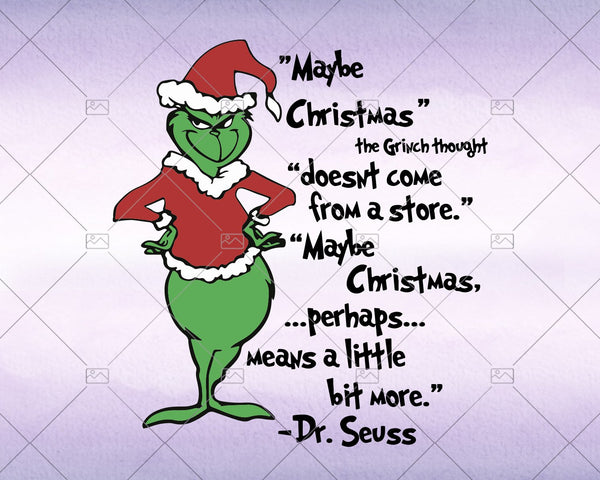 Maybe Christmas, The Grinch Svg, Instant Download - Doranstars