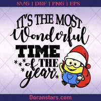 Minion svg, it's the most wonderful time of year svg - Instant Download - Doranstars