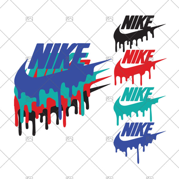 Nike Color Drip SVG, Nike DXF, Just Do It, Nike Cut File, Vector