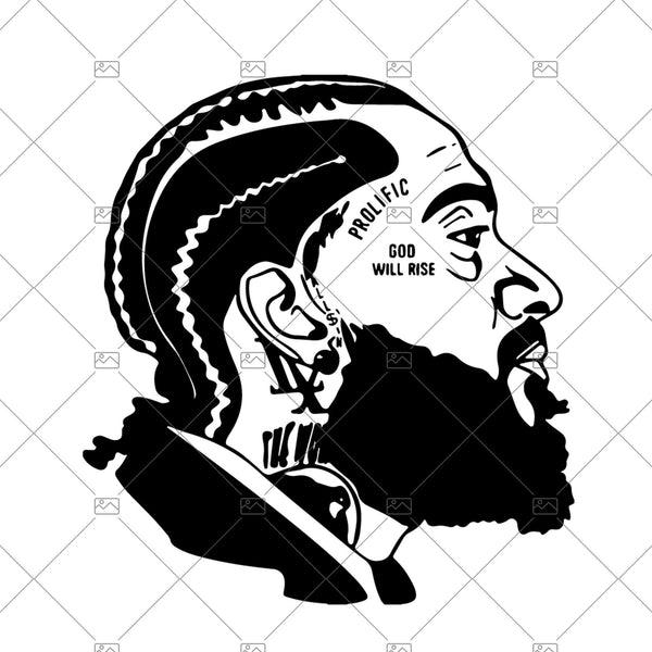 Nipsey Hussle silohuette, svg png jpg digital, trending, cricut, laser, los angeles, LA, music icon. vinyl, unique, art, rap, nipsey art
