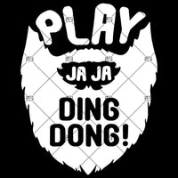 Play JaJa DING DONG Adults Funny T-Shirt Fire Saga Comedy BEARD Tee Shirt Top