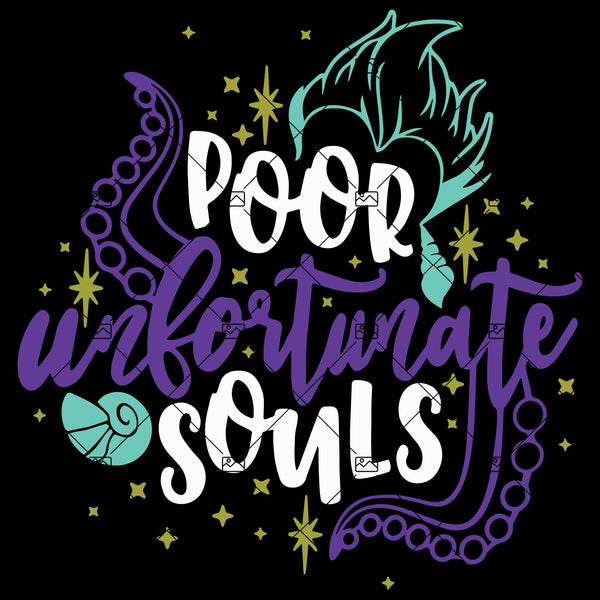 Poor Unfortunate Souls Svg, Disney Villains Svg, Ursula Svg