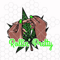 Rolling Pretty Blunt Joint Weed Leaf High Life Pot Head Stoned 420 Grass Cannabis Marijuana Sativa SVG PNG JPG Vector Clipart Cut Cutting
