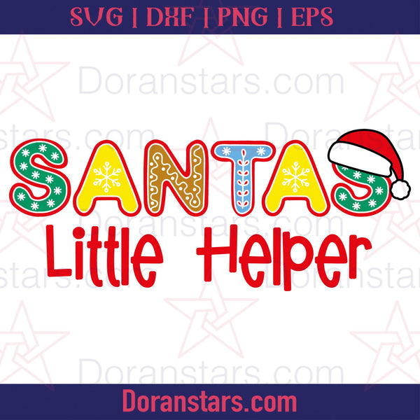 Santas Little Helper - Free SVG, Instant Download - Doranstars