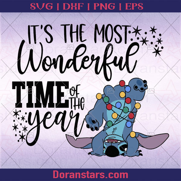 Stitch it's the most wonderful time of year svg - Instant Download - Doranstars