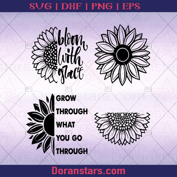 Sunflower, SVG, Starbucks SVG, Create Your Own Sunshine, Bloom with Grace, Cricut SVG