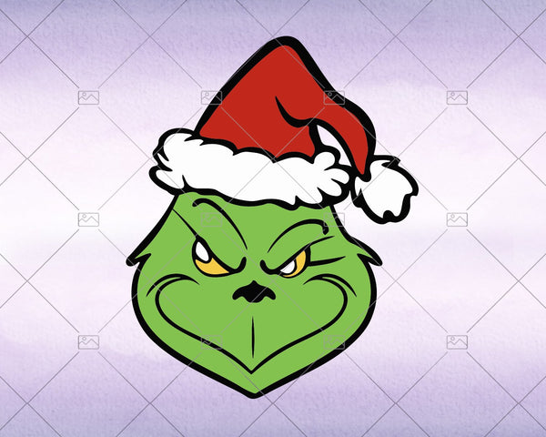 The Grinch Face, Christmas svg 2020 - Instant Download - Doranstars