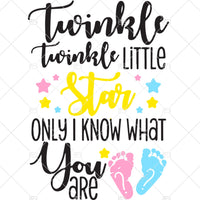 Twinkle Twinkle Little Star...Keeper of the Gender Unisex SVG,PNG,Dxf, Eps