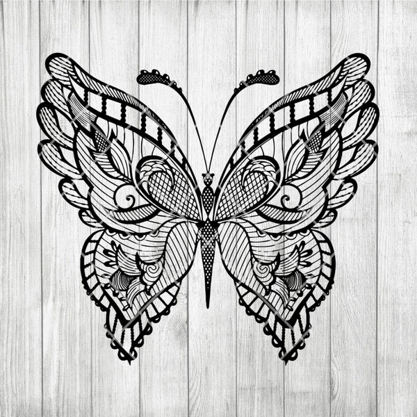 BUTTERFLY Mandala svg, Zentangle Butterfly svg, Intricate svg File, Cricut Design svg, Mandala Animal