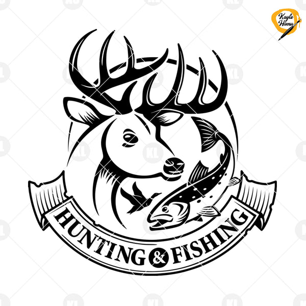 Hunting And Fishing Digital Cut Files Svg, Dxf, Eps, Png, Cricut Vector, Digital Cut Files Download