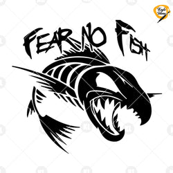 Fear No Fish Digital Cut Files Svg, Dxf, Eps, Png, Cricut Vector, Digital Cut Files Download