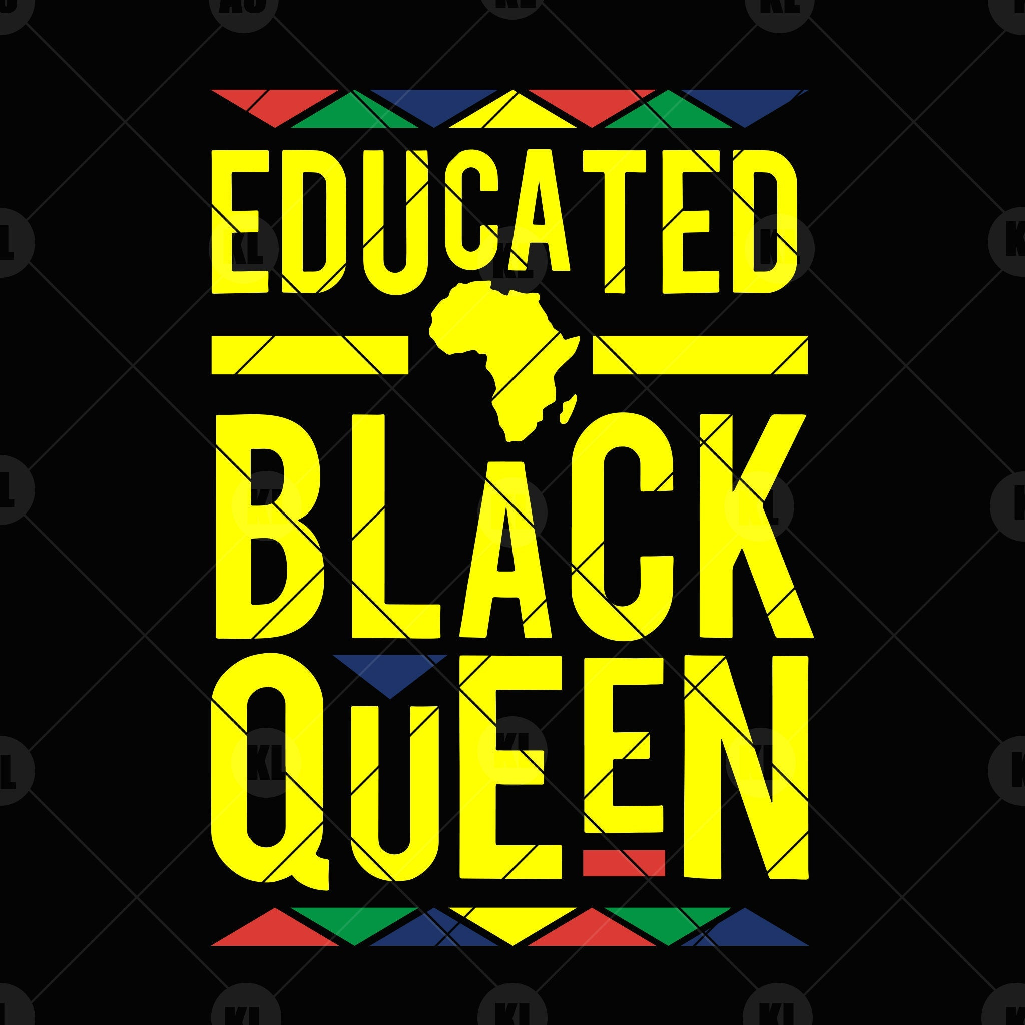 Download Educated Black Queen Digital Cut Files Svg, Dxf, Eps, Png ...