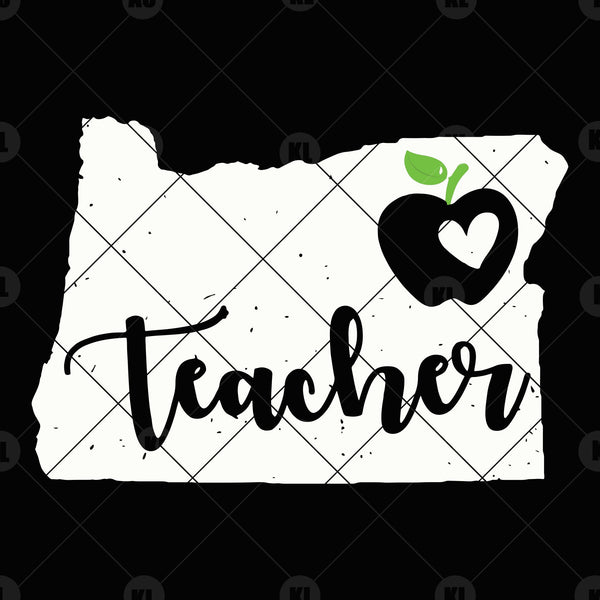 Orange Teacher Digital Cut Files Svg, Dxf, Eps, Png, Cricut Vector, Digital Cut Files Download
