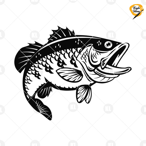 Fish Digital Cut Files Svg, Dxf, Eps, Png, Cricut Vector, Digital Cut Files Download