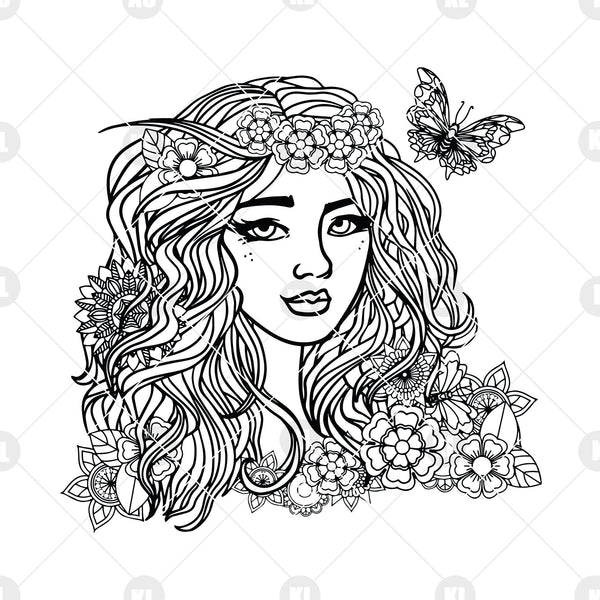Girls Digital Cut Files Svg, Dxf, Eps, Png, Cricut Vector, Digital Cut Files Download