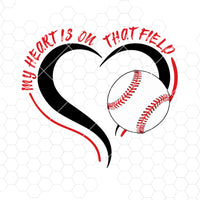 My Heart Is On That Field Digital Cut Files Svg, Dxf, Eps, Png, Cricut Vector, Digital Cut Files Download
