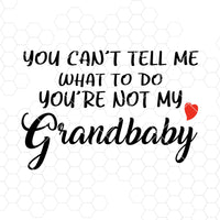 You Can't Tell Me What To Do You're Not My Grandbaby Digital Cut Files Svg, Dxf, Eps, Png, Cricut Vector, Digital Cut Files Download