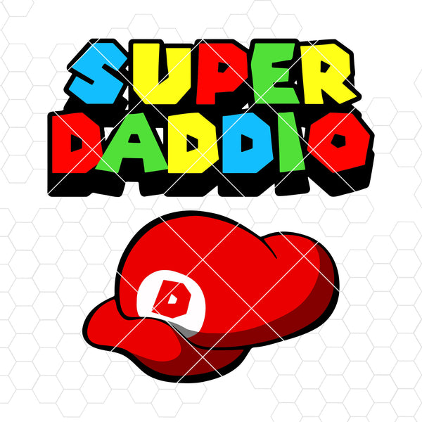 Super Daddio Digital Cut Files Svg, Dxf, Eps, Png, Cricut Vector, Digital Cut Files Download