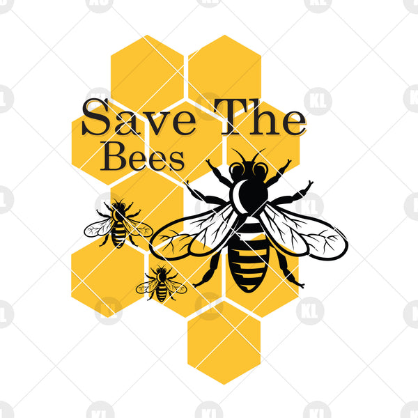 Save The Bees Digital Cut Files Svg, Dxf, Eps, Png, Cricut Vector, Digital Cut Files Download