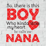 So, There Is This Boy Who Kinda Stole My Heart He Calls Me Nana Digital Cut Svg, Dxf, Eps, Png, Cricut Vector, Digital Cut Files Download