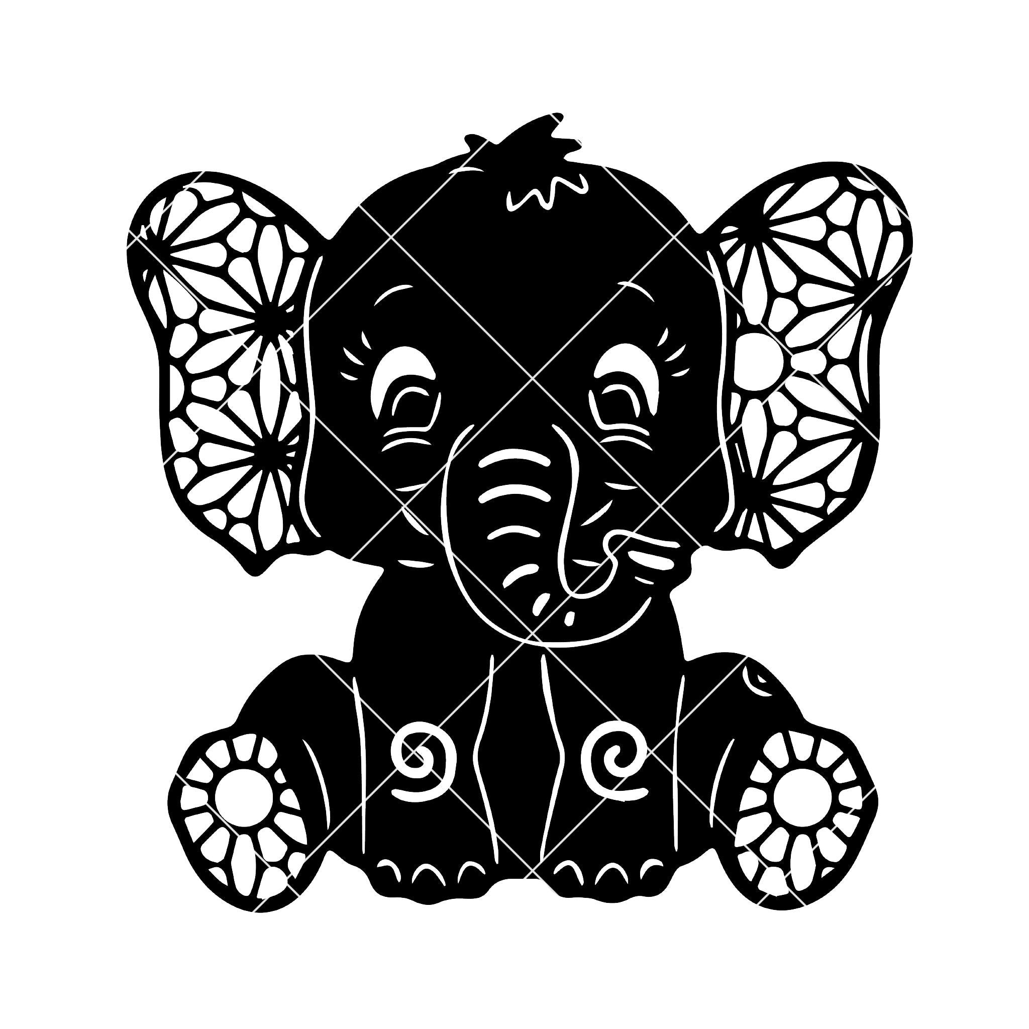 Download Baby Elephant Digital Cut Files Svg, Dxf, Eps, Png, Cricut ...