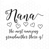 Nana-The Most Amazing Grandmother There Is Digital Cut Files Svg, Dxf, Eps, Png, Cricut Vector, Digital Cut Files Download
