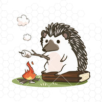 Hedgehog Camping Digital Cut Files Svg, Dxf, Eps, Png, Cricut Vector, Digital Cut Files Download
