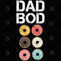 Dad Bod Digital Cut Files Svg, Dxf, Eps, Png, Cricut Vector, Digital Cut Files Download